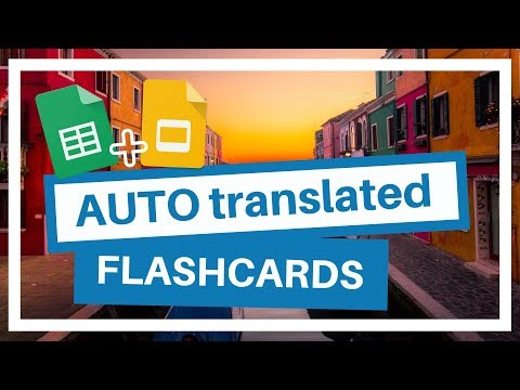 Make your own Flashcards in multiple Languages Automatically