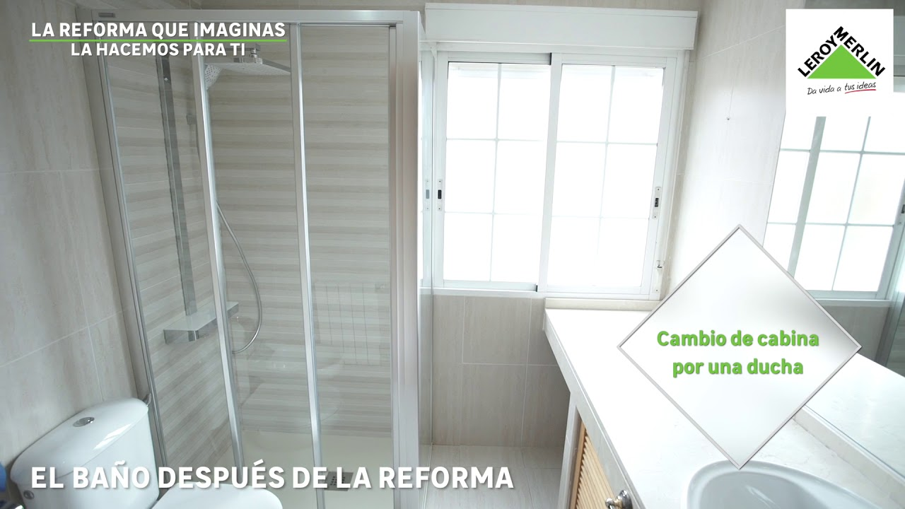 Reforma de ba o gana espacio con una instalaci n de ducha for Cambiar banera por ducha leroy merlin