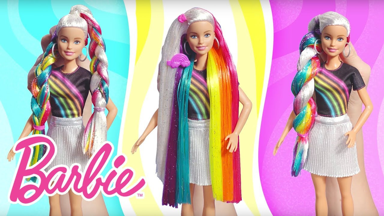 Barbie Rainbow Sparkle Hair Demo Video | Barbie - YouTube