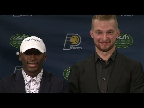 Victor Oladipo, Domantas Sabonis and Darren Collison