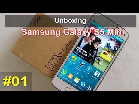 Samsung Galaxy S5 Mini Duos SM-G800H - Unboxing - Português
