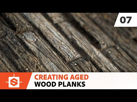 Aged Wood Planks: 07 - Adding the nails