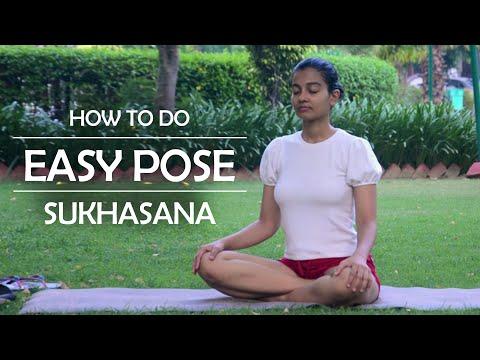 How To Do Easy Pose or Sukhasana | The Yoga Mile