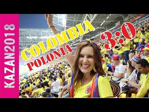 COLOMBIA - POLONIA L RUSSIA 2018  WORLD CUP L Колумбийские болельщики в Казани