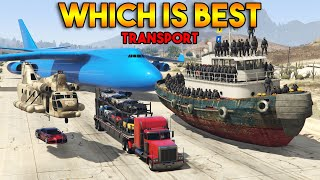 GTA 5 ONLINE : WHICH IS BEST FOR TRANSPORT? (CARGO PLANE, CARGOBOB, TUG, TRUCK)