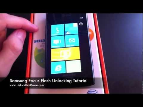 How to Unlock Samsung Focus S & Flash with Code + Full Unlocking Tutorial!! at&t tmobile o2 rogers