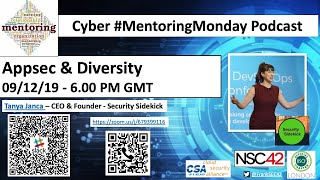 Cyber Mentoring Monday - Tanya Janca - OWASP APPSEC & Women in Cyber