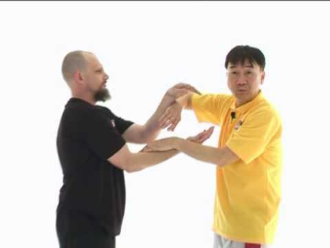 Leung Sheung Wing Chun Jum Sau changing into Fook Sau - Last Video from DVD by Sifu Roland Kong
