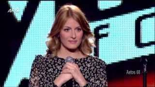 The Voice Επ.3 Μαρία Ελενα Κυριάκου (Because Of You) {24/1/2014}