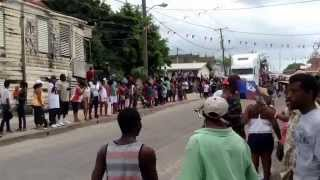 Belize city 10th of September parade jump up behind the big trucks