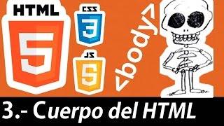 Curso de HTML5 esencial - Cuerpo del HTML (body, div, table)