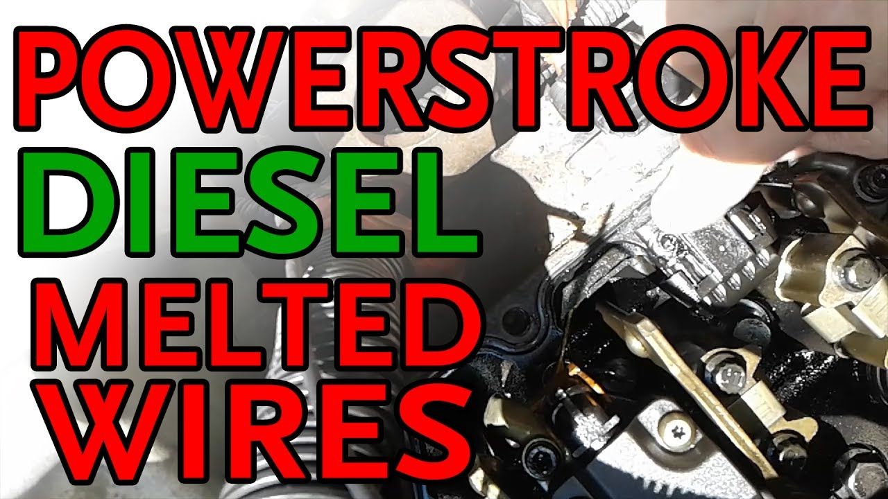 Ford F250 Powerstroke 73l Melted Glow Plug Wires Youtube 1991 F 350 Wiring Diagram
