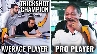 Recreating 5 Efren Reyes Trick Shots with Florian Kohler and Rollie Williams | Average Pool Player