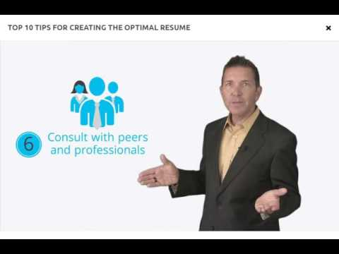 Top 10 Tips for Creating an Optimal Resume - YouTube