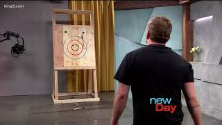 Axe throwing hits the Seattle bar scene - New Day NW