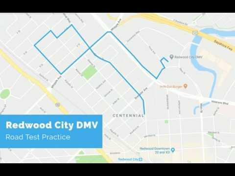Redwood City DMV Road Test Route - powered by YoGov