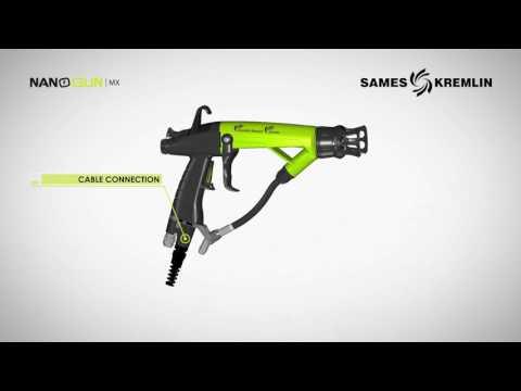 Pistolet airmix électrostatique de peinture