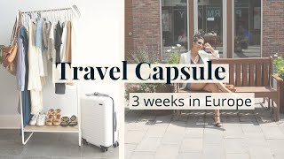 Travel Capsule: 3 Weeks in Europe | How to Pack Light - Carry-on | Slow Fashion