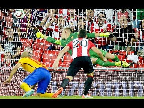 Aritz Aduriz Hat Trick Goals vs FC Barcelona Athletic ...