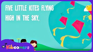 Kites Song for Kids | 5 Little Kites Song Lyrics for Children | Five Little Kites Spring Song