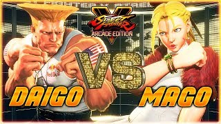SFV/SF5 - Daigo face off against Mago in this epic FT5 set - Street...