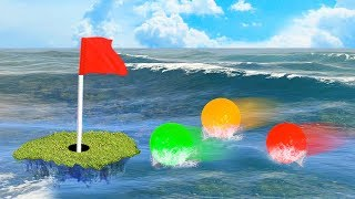 IMPOSSIBLE GOLF ON WATER! (Golf It)