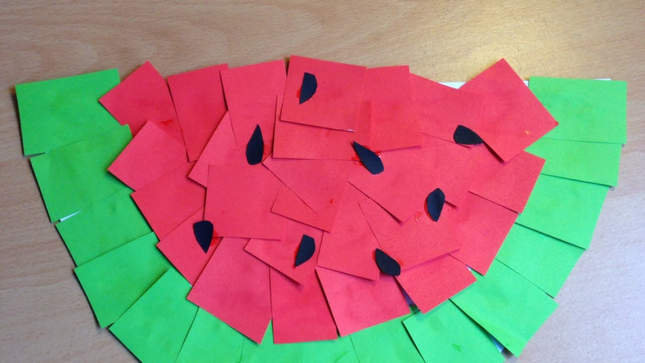 Make A Fun Kids Paper Watermelon