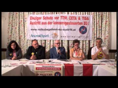 8. Pressekonferenz - TTIP, CETA, TISA – UNGEBREMSTE HERRSCHAFT DER GLOBALISIERUNGS-EUROKRATEN