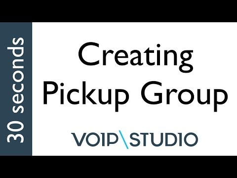 Create an Pickup Group in VoIPstudio PBX - 30 seconds tutorial