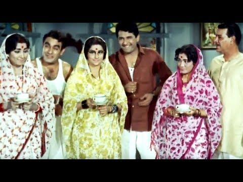 Prithviraj Kapoor, Rajendranath, Agha, Ramesh Deo, Teen Bahuraniyan - Scene 1/22
