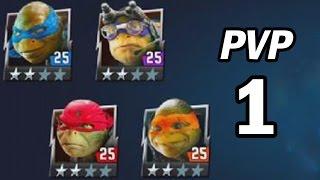 TMNT Legends PVP #1 (Leonardo, Raphael, Michelangelo, Donatello The Movie)