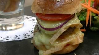 Recette du Burger à la Fourme de Montbrison, 100% Loire