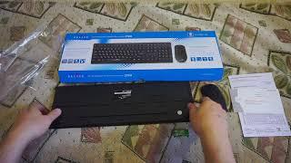 Беспроводной комплект клавиатура+мышь Oklick 270M Black обзор