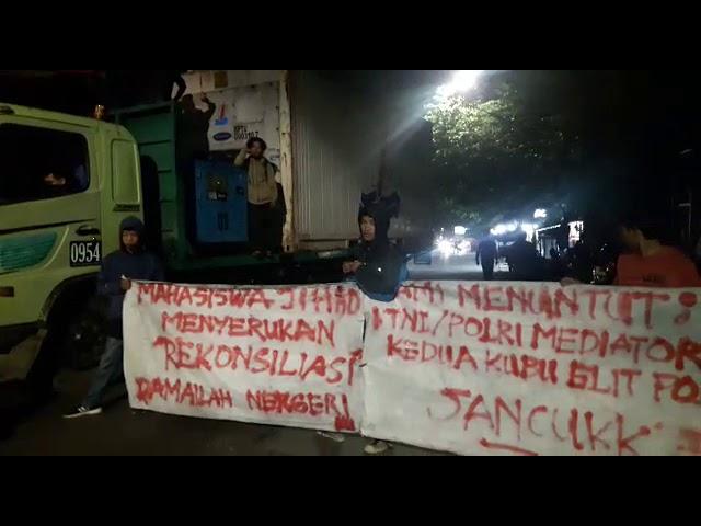 Aksi Malam, Mahasiswa Jihad Menyerukan