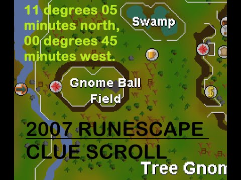 OSRS - 11 degrees 05 minutes north, 00 degrees 45 minutes west - CLUE SCROLL