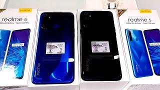Realme 5 Crystal Blue Vs Realme 5 Crystal Purple !! Realme 5 3GB VS 4GB