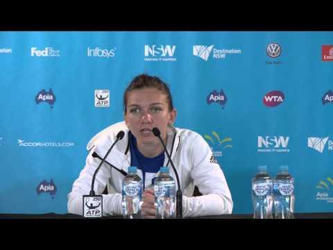 Simona Halep press conference (SF)