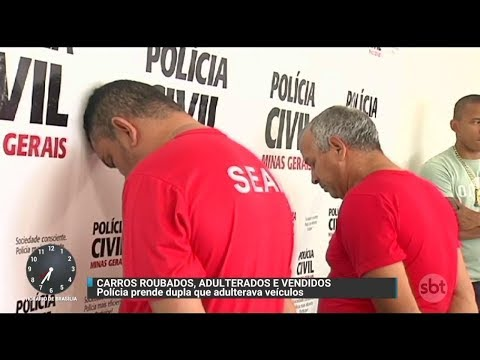 MG: Polícia prende dois suspeitos de receptar e adulterar veículos | Primeiro Impacto (27/10/17)
