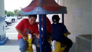 mini Carousel FUN! Ruiz Boys!