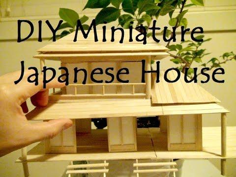 DIY Miniature Japanese House - YouTube