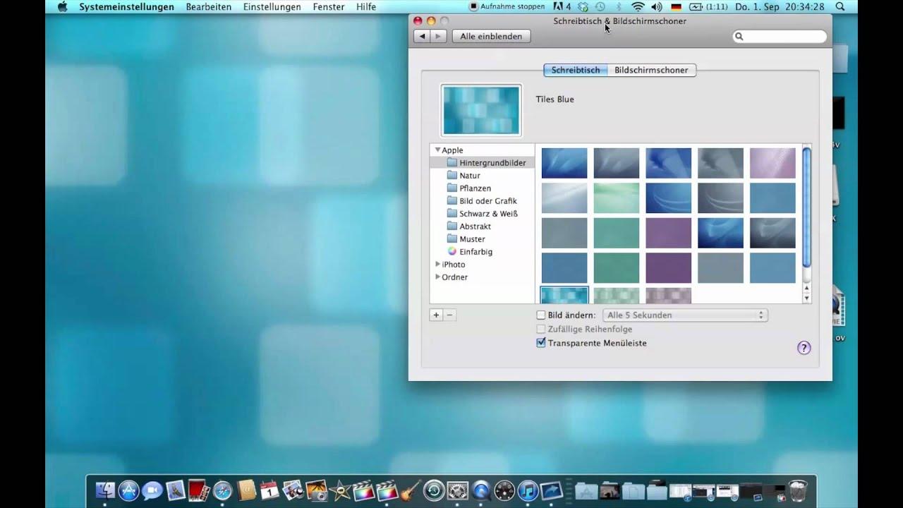 Mac Hintergrundbild ändern