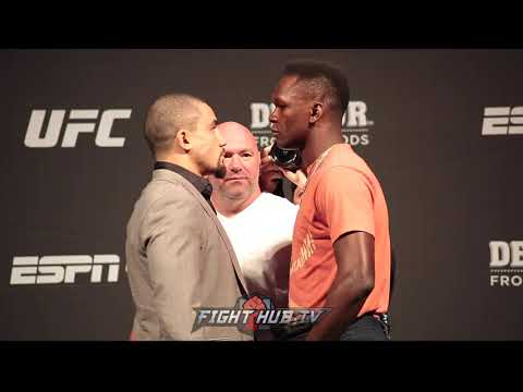 ROBERT WHITTAKER AND ISRAEL ADESANYA FACE OFF AHEAD OF UFC 243