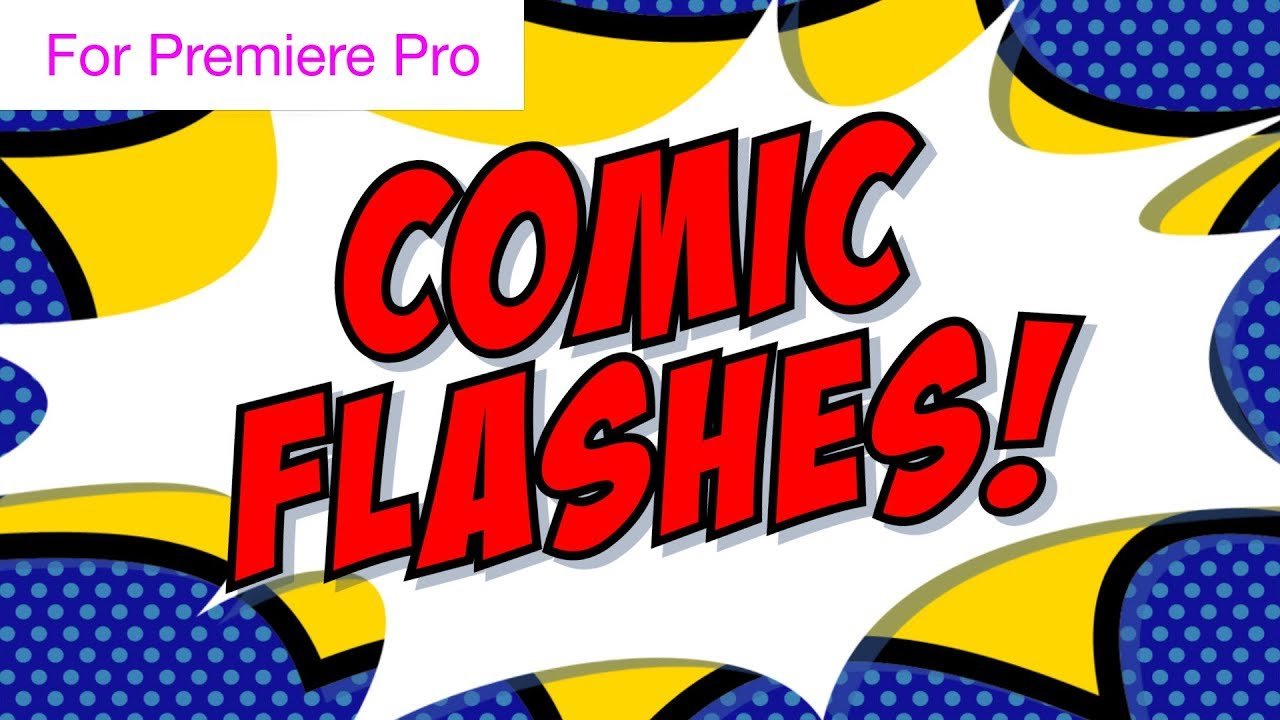 Comic book flash transitions motion graphics template.