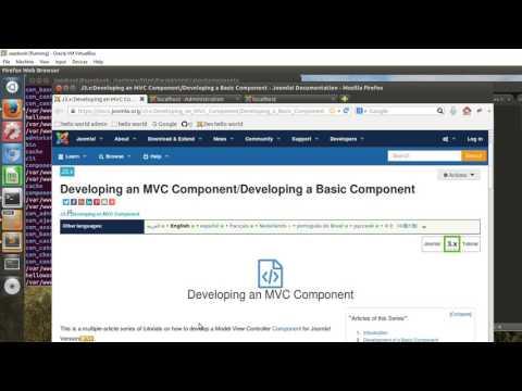 Joomla Tutorial MVC Component Step 1 Basic Component