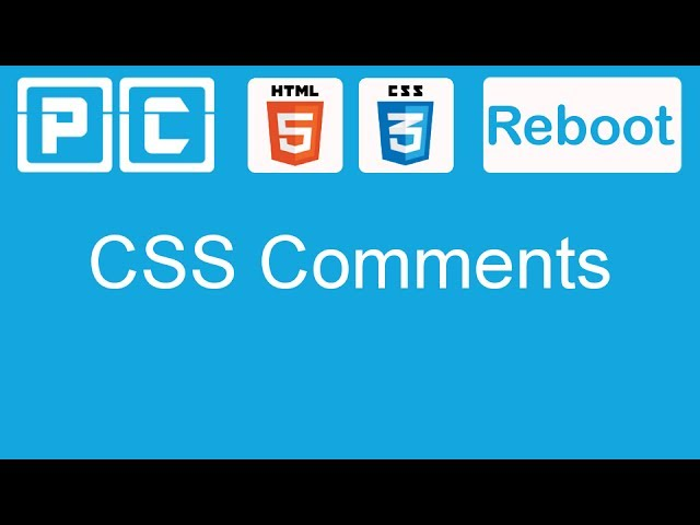HTML5 and CSS3 beginners tutorial 14 - CSS comments