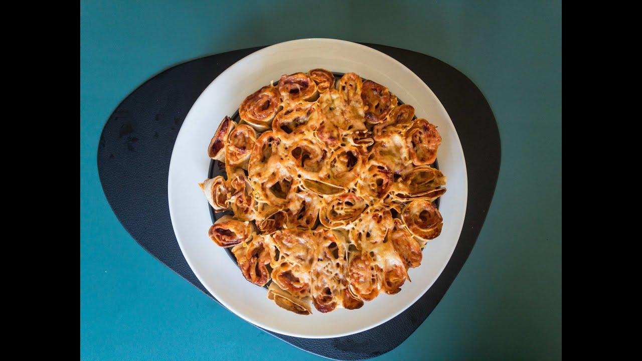 פיצה טורטייה מגולגלת משפחתית