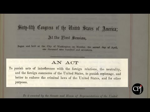 100 Years Later: The Espionage Act & the Free Press