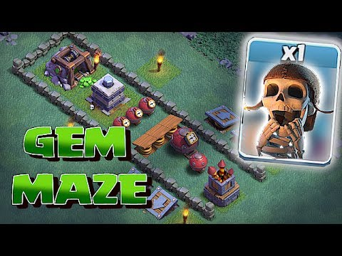 GREEDY PEOPLE WILL LOSE!!! | GEM MAZE BASE!! | Clash Of Clans 😀🔸