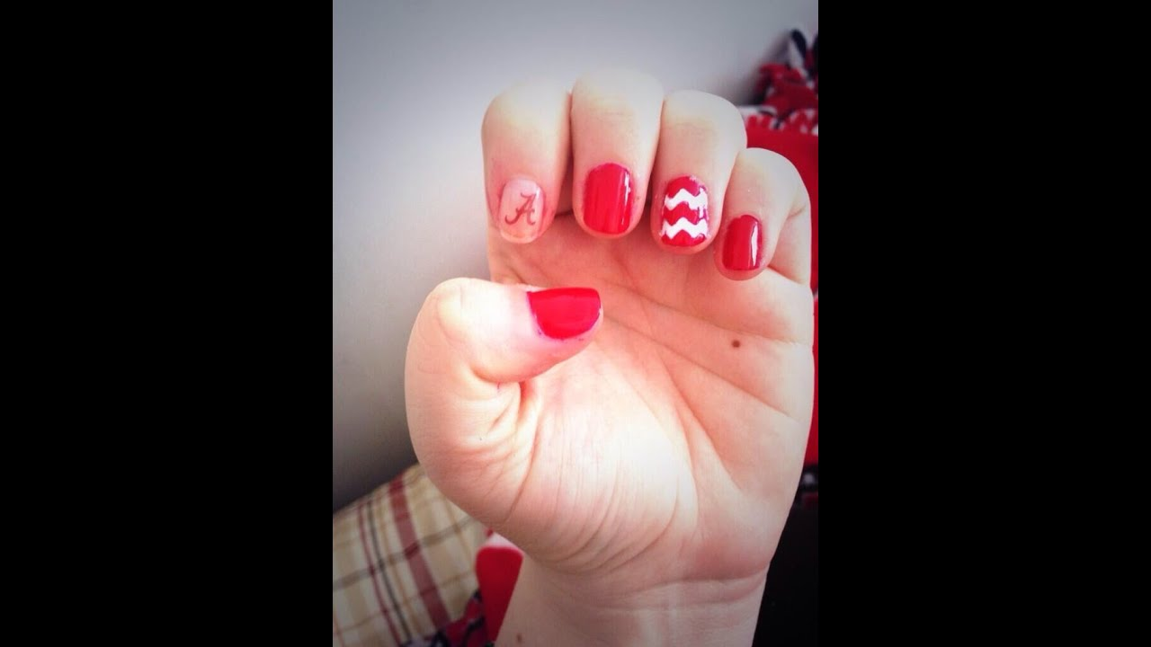 Alabama Nail Art - Alabama Nail Art - YouTube