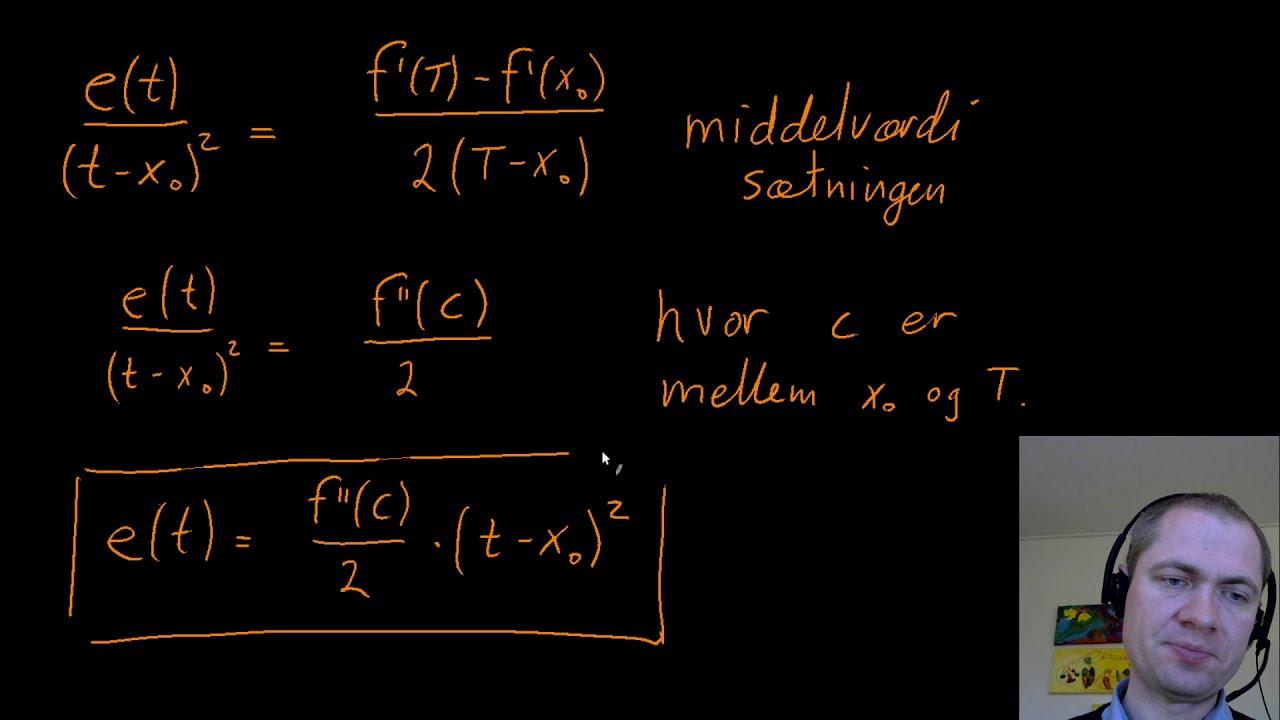 Fejlvurdering af linearisering - overbevisning